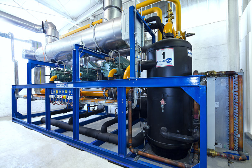 Refrigeration plant industrial refrigeration systems - project num19