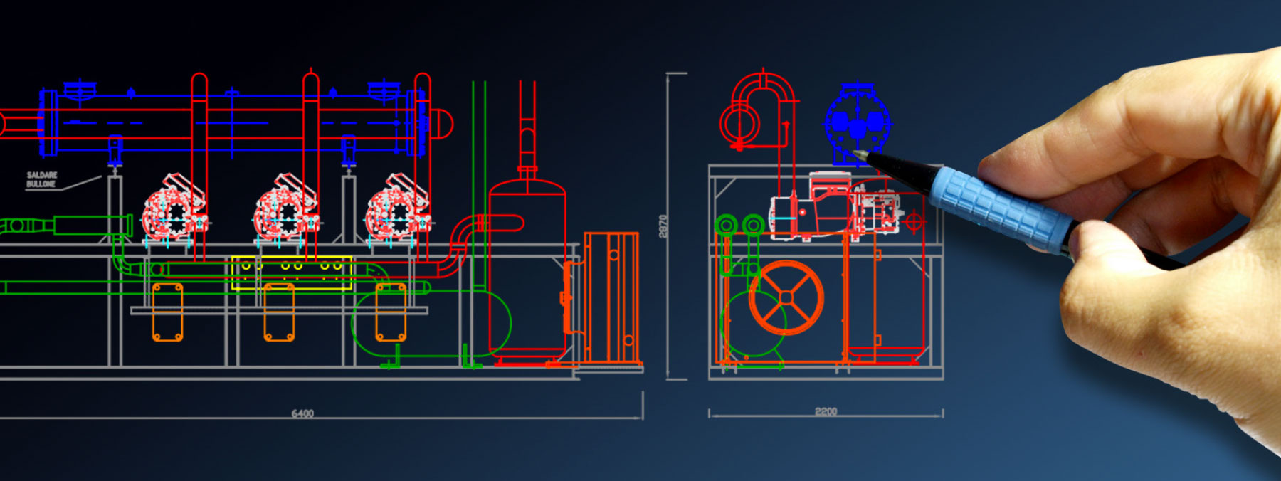 Refrigeration plant industrial refrigeration systems - engineering project
