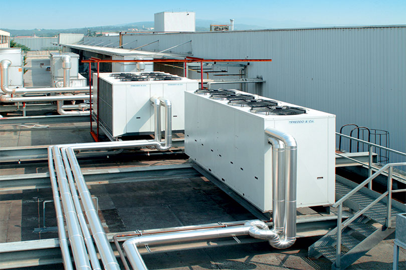 Refrigeration plant industrial refrigeration systems - project num07