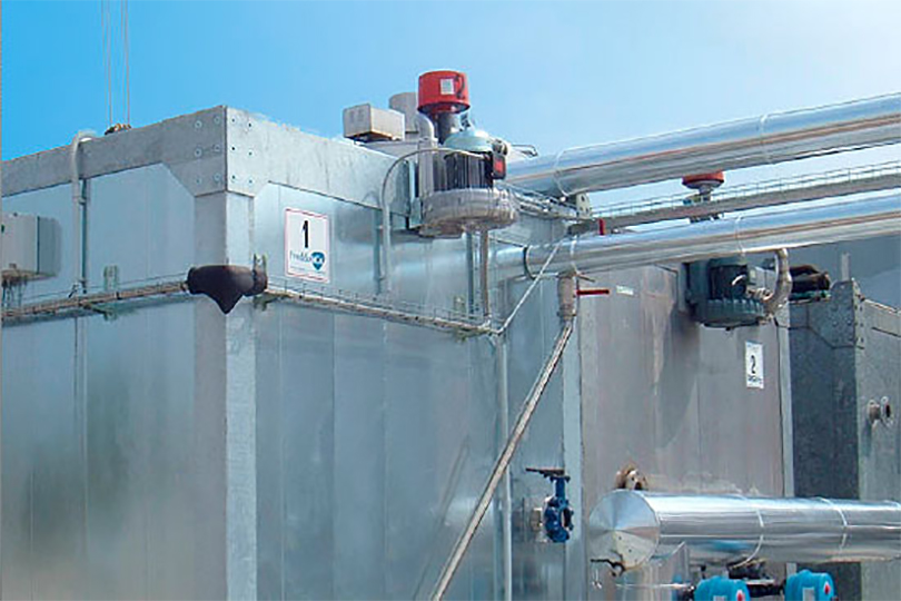 Refrigeration plant industrial refrigeration systems - project num27